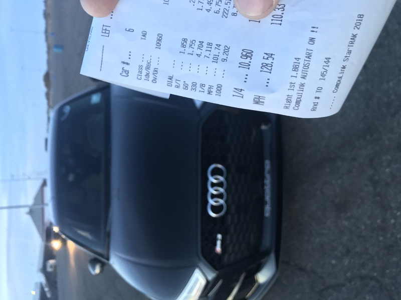 Audi RS-3 Timeslip Scan