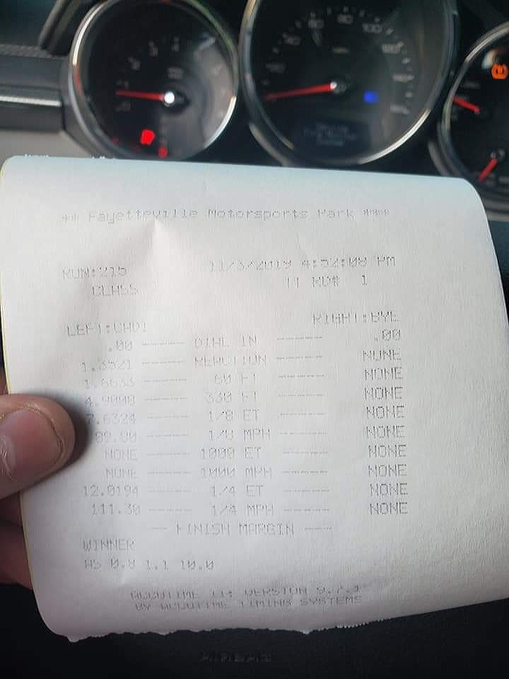 Cadillac CTS Timeslip Scan