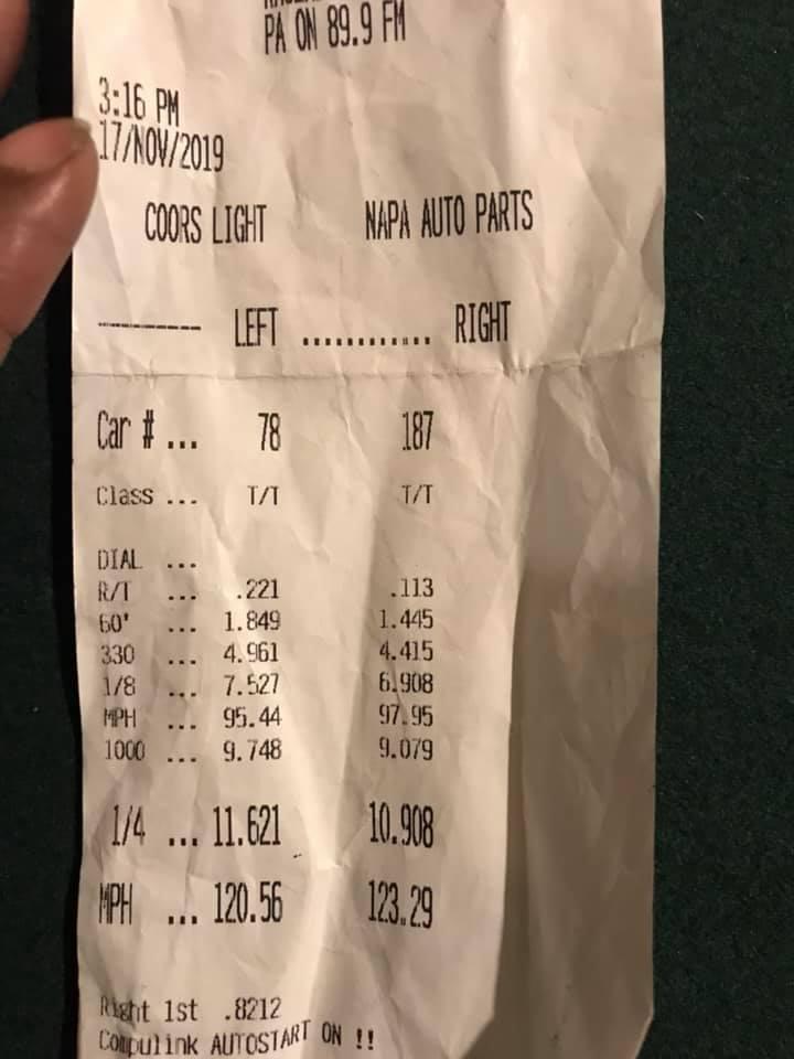 Dodge Challenger SRT8 Timeslip Scan