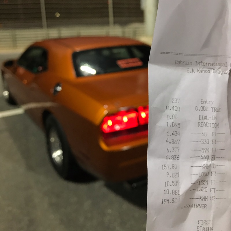 Dodge Challenger Timeslip Scan