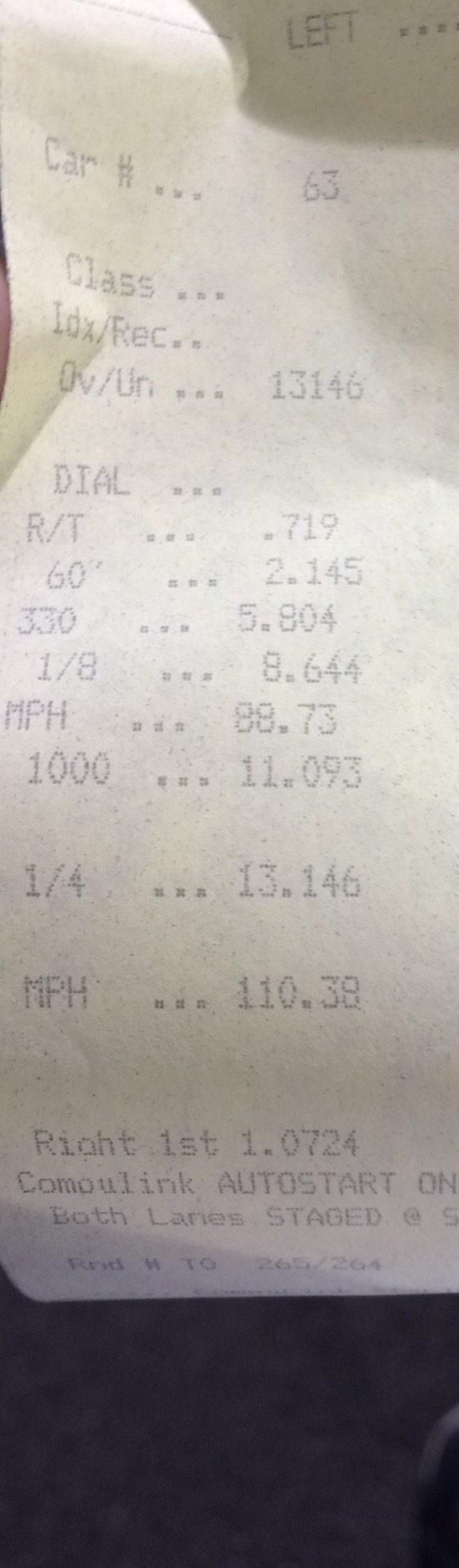 Ford Focus Timeslip Scan