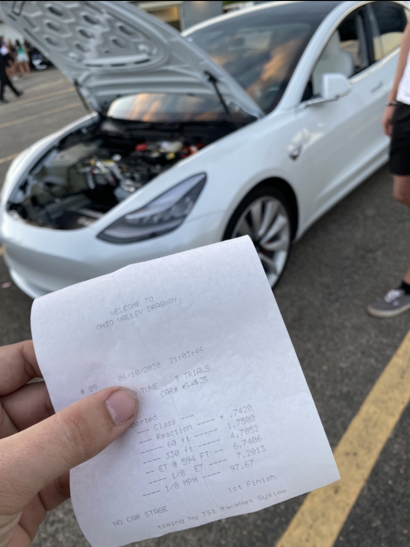 Tesla Model 3 Timeslip Scan