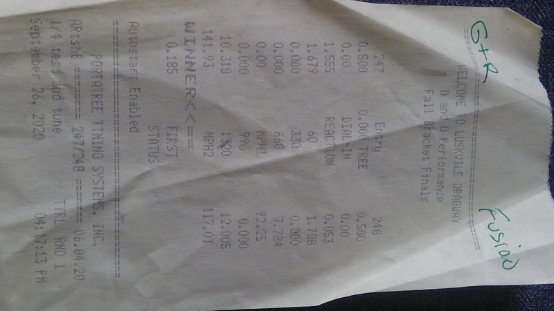 Ford Fusion Timeslip Scan
