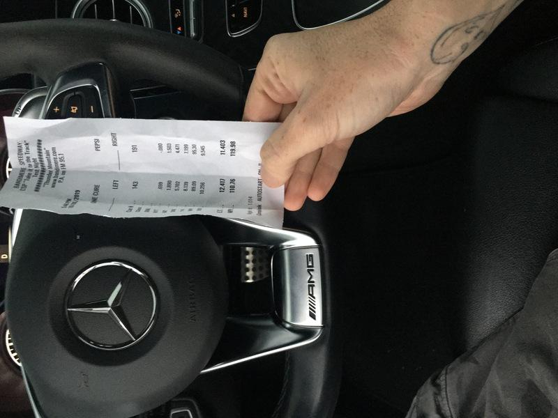 Mercedes-Benz C43 Timeslip Scan