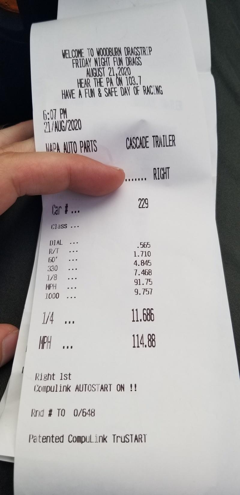 Audi TT RS Timeslip Scan