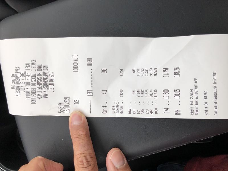 Tesla Model 3 Timeslip Scan