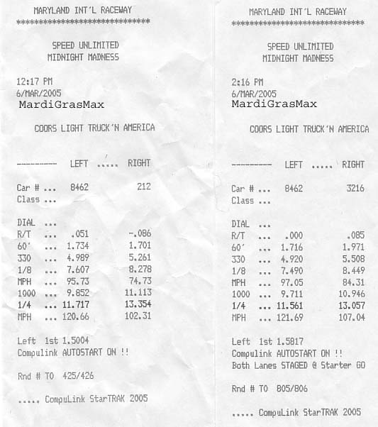 1998  Nissan Maxima GXE Turbo Timeslip Scan