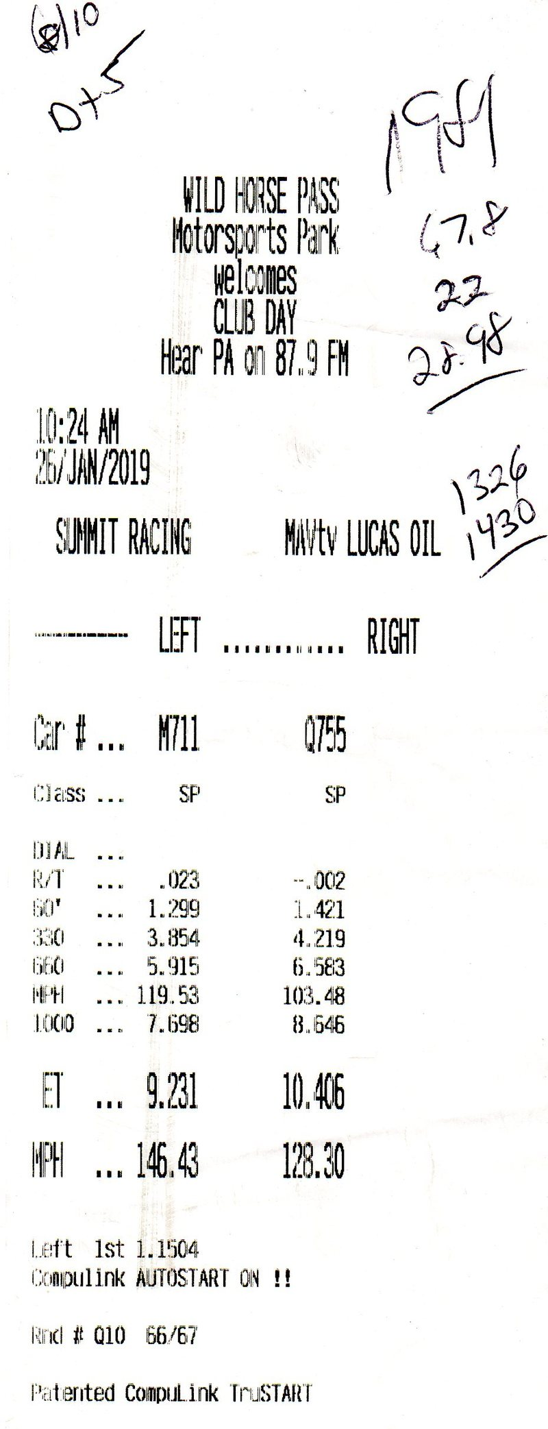 Ford Falcon Timeslip Scan