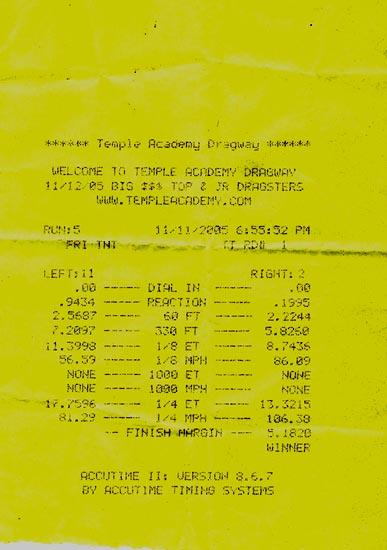Hyundai Tiburon Timeslip Scan
