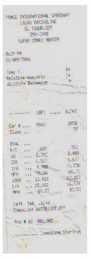 Toyota Camry Timeslip Scan