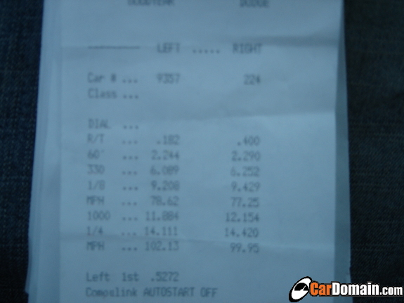 2006  Chevrolet Cobalt SS Supercharger Timeslip Scan