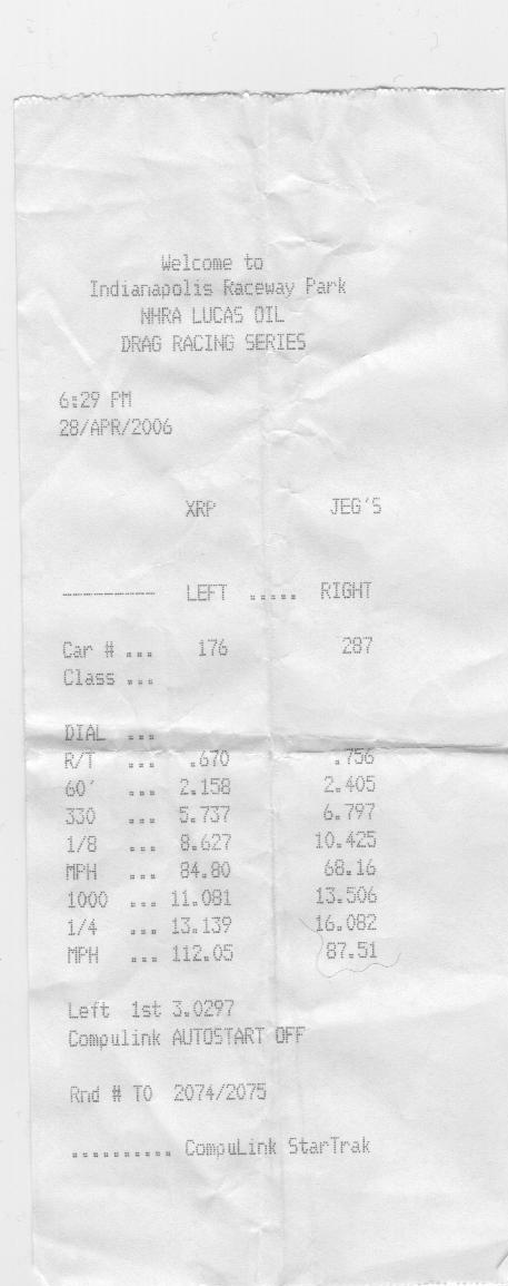 2004  Ford Mustang GT Timeslip Scan