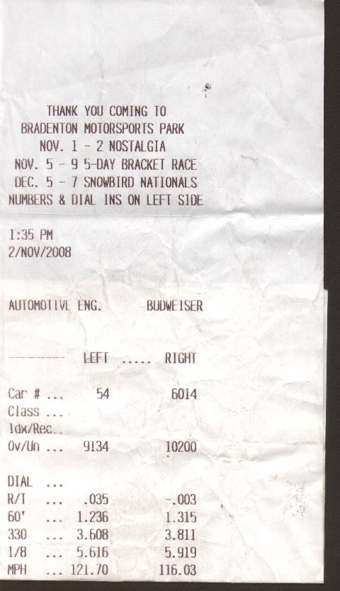 Ford EXP Timeslip Scan
