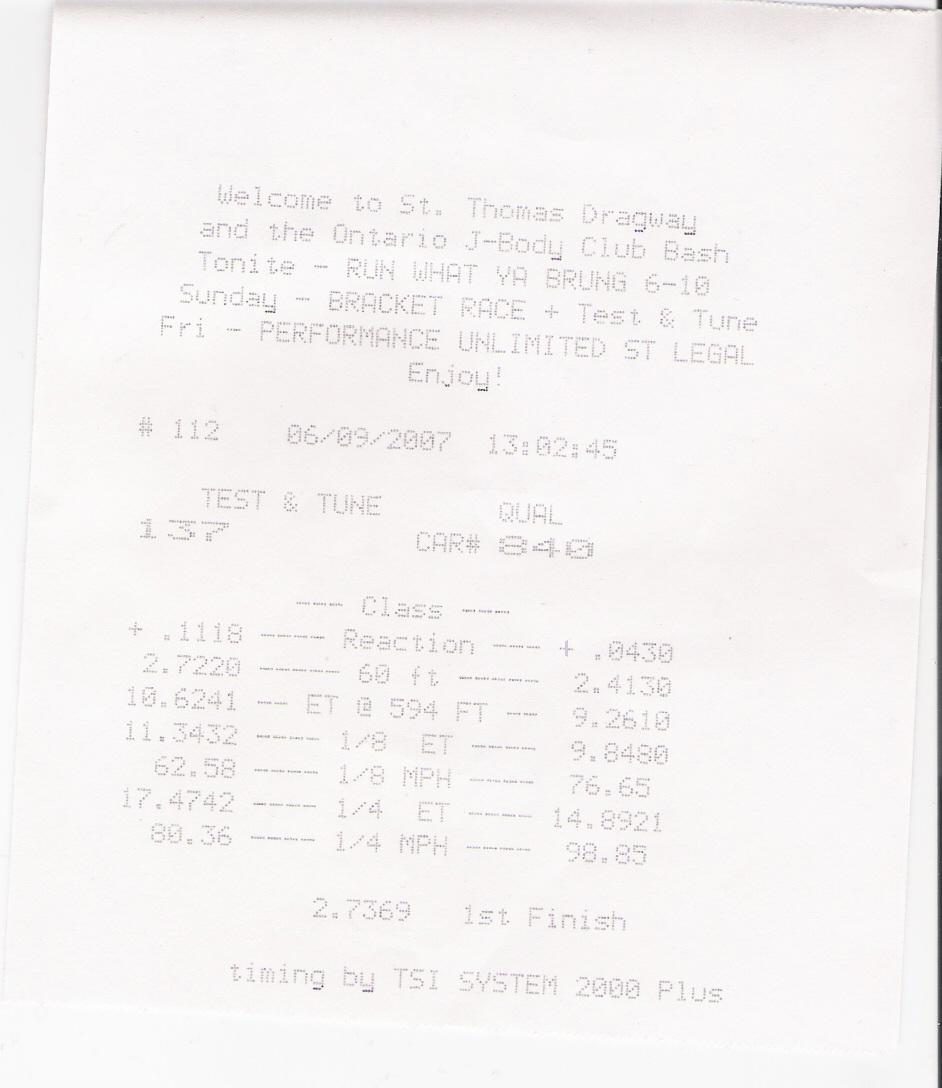 Pontiac Pursuit Timeslip Scan