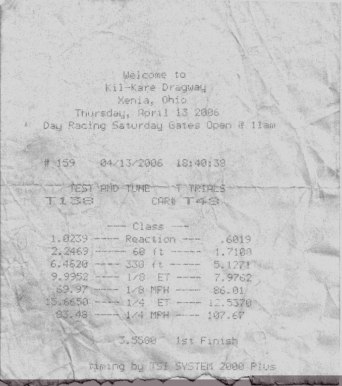 Hyundai Accent Timeslip Scan