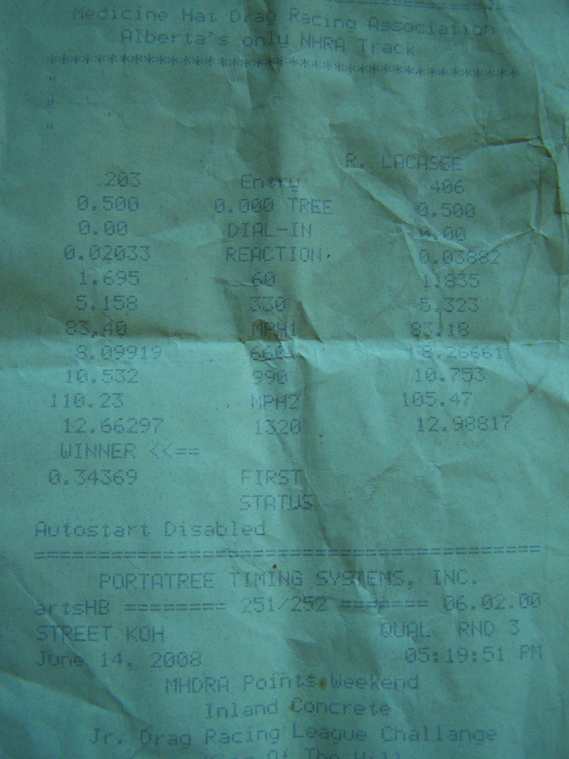 GMC Sierra CK1500 Timeslip Scan