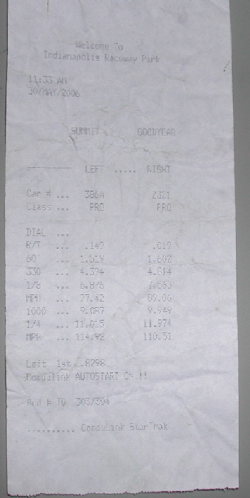 Chevrolet G Van Timeslip Scan