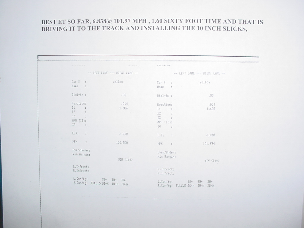 1992 Dodge Dakota R/T Timeslip Scan