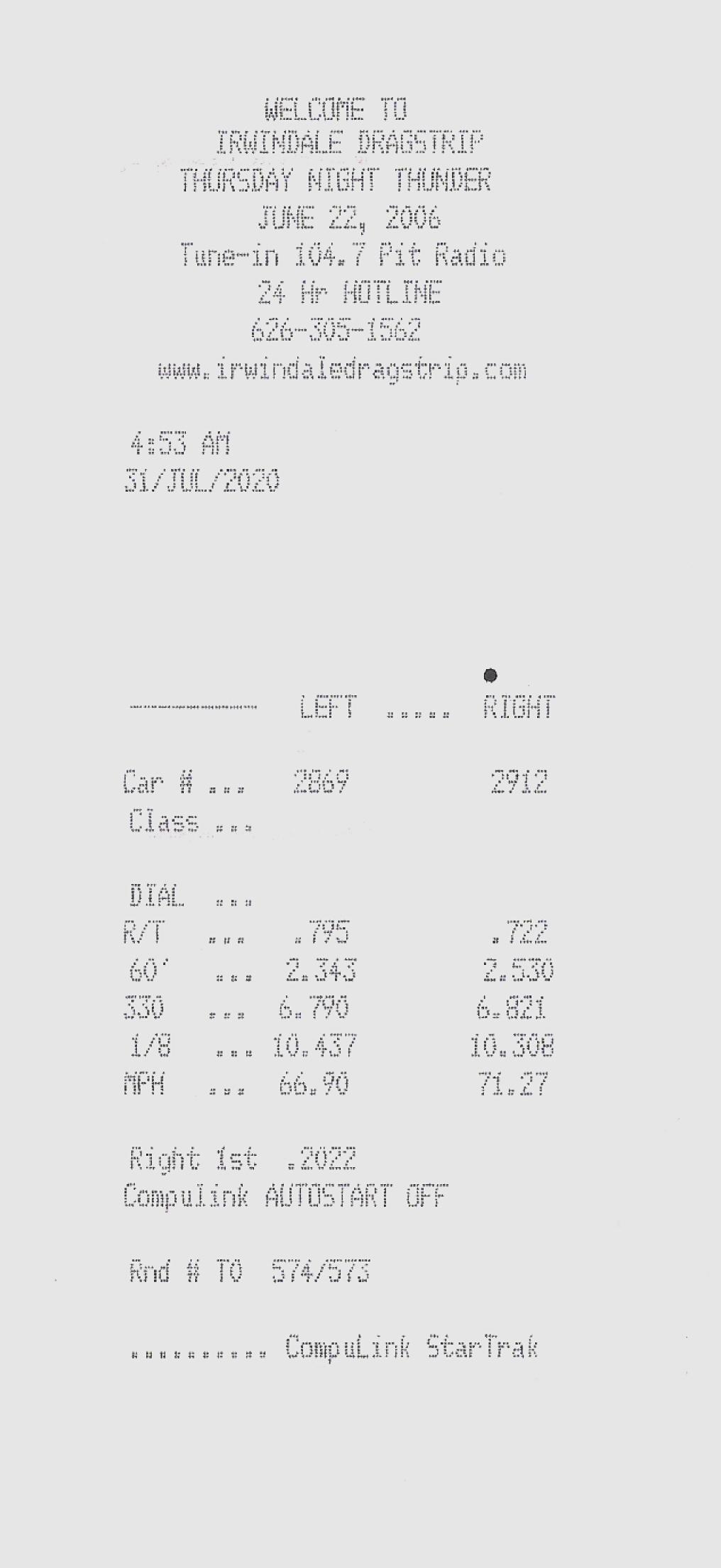 Chevrolet CK1500 Truck Timeslip Scan