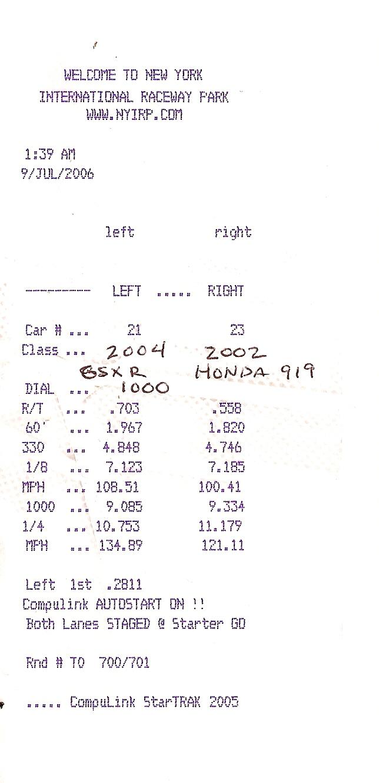 Honda 919 Timeslip Scan
