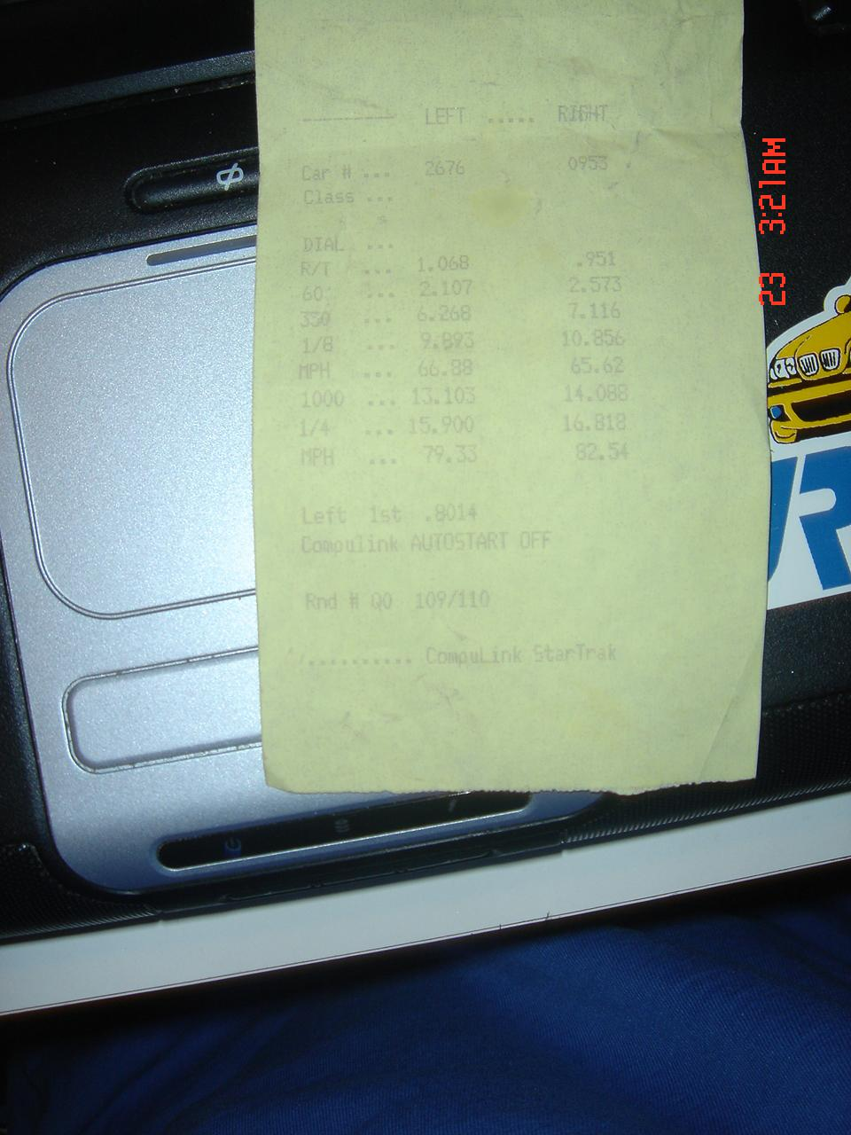 Honda Accord Timeslip Scan