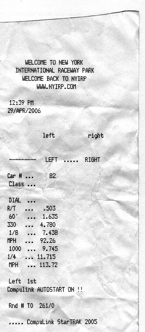 1988  Dodge Dakota  Timeslip Scan