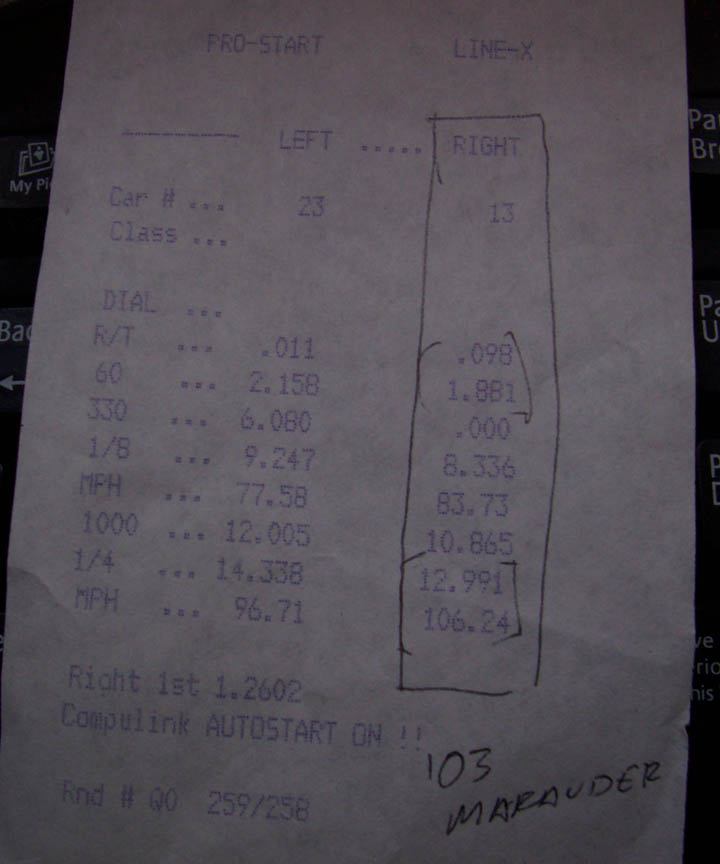 Eaton Supercharger Boost Calculator: 2003 Mercury Marauder 1/4 Mile Trap Speeds 0-60