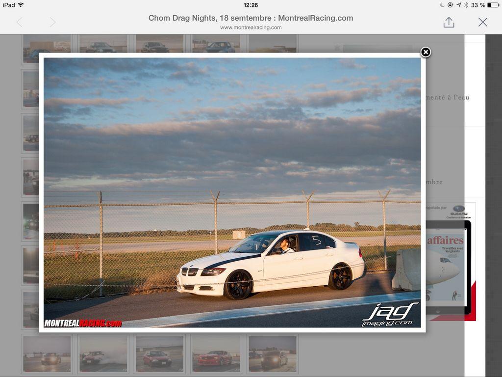 BMW 335xi VBOX Graph