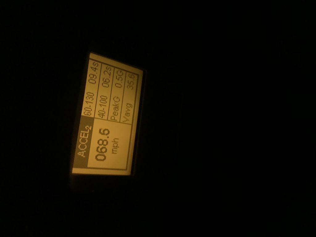 Audi RS-7 VBOX Graph