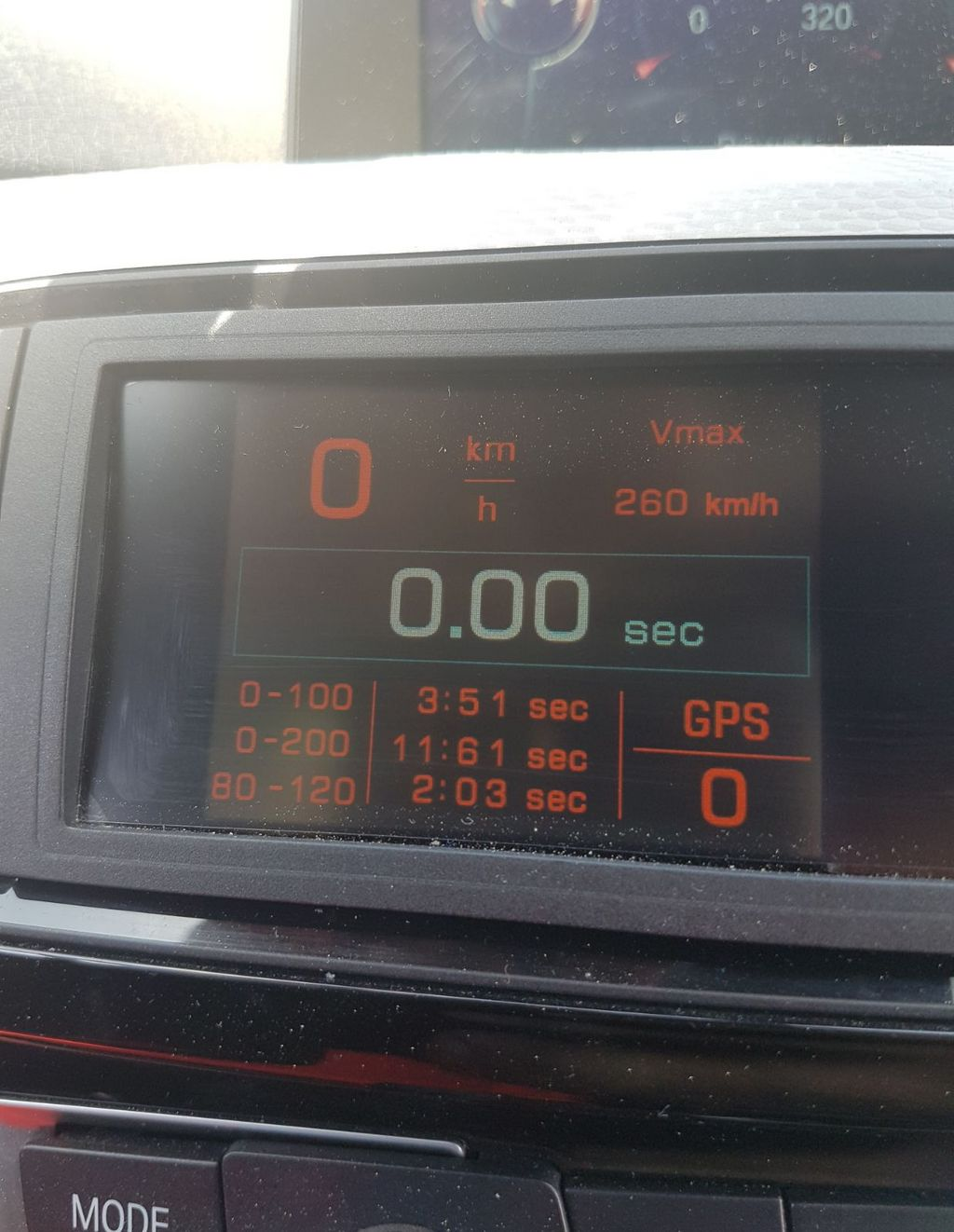 BMW 335d VBOX Graph