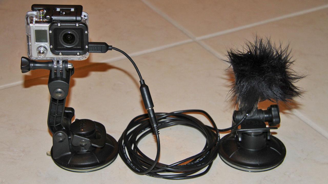 Gopro External Microphone Setup on 2007 Dodge Dakota