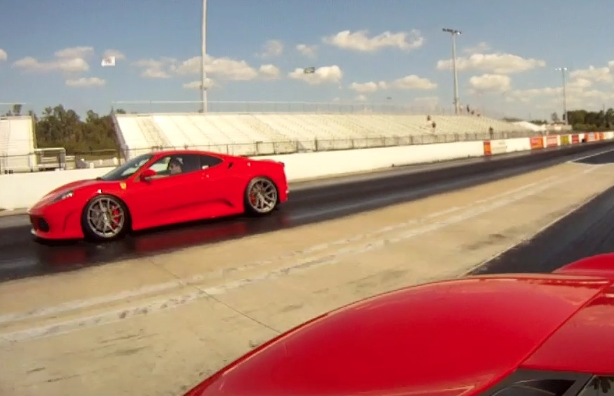 Ford GT vs Ferrari F430 Drag Racing | DragTimes.com Drag ...