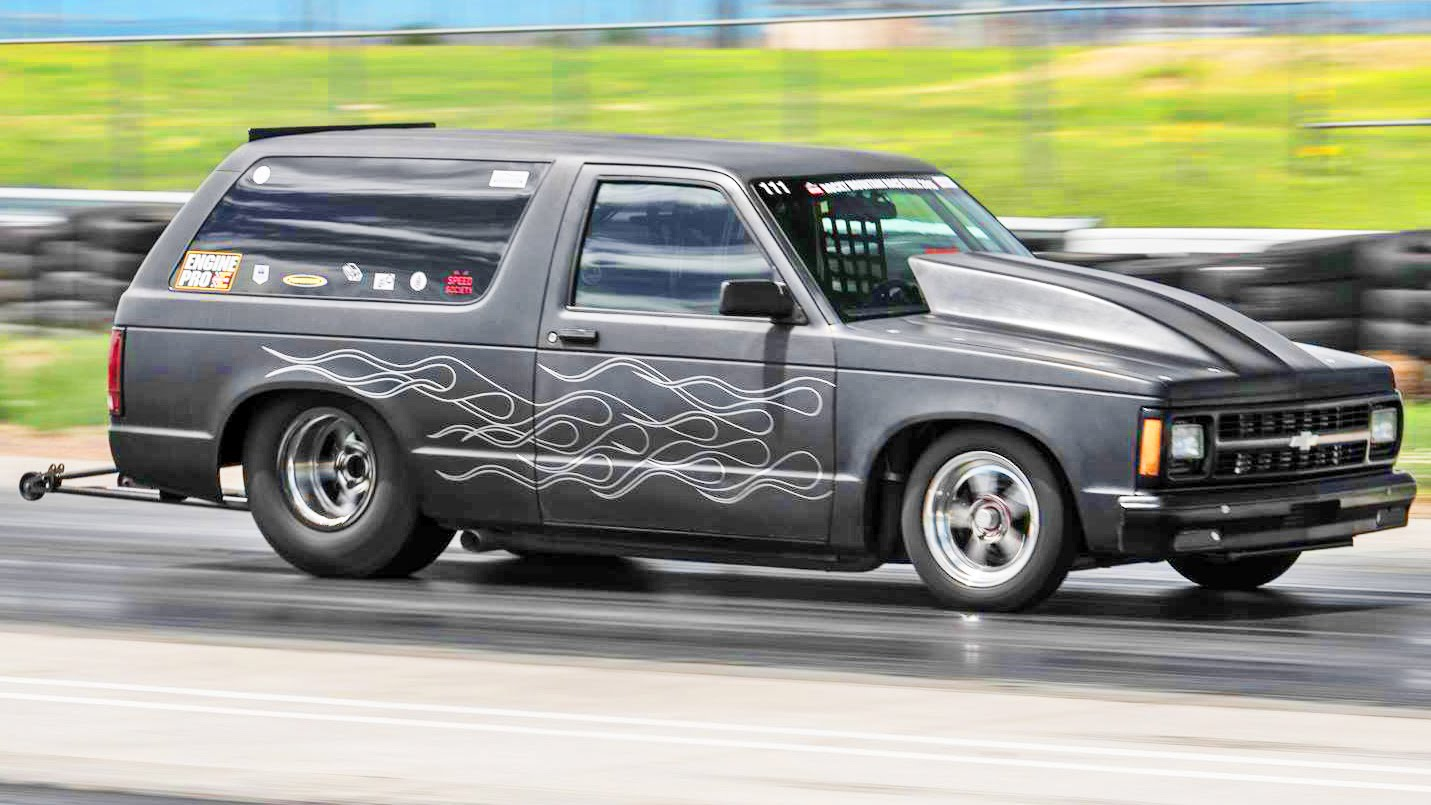 Blazer 94 chevy s10 blazer : Twin Turbo S10 Blazer Runs 8.4 @ 160 MPH | DragTimes.com Drag ...