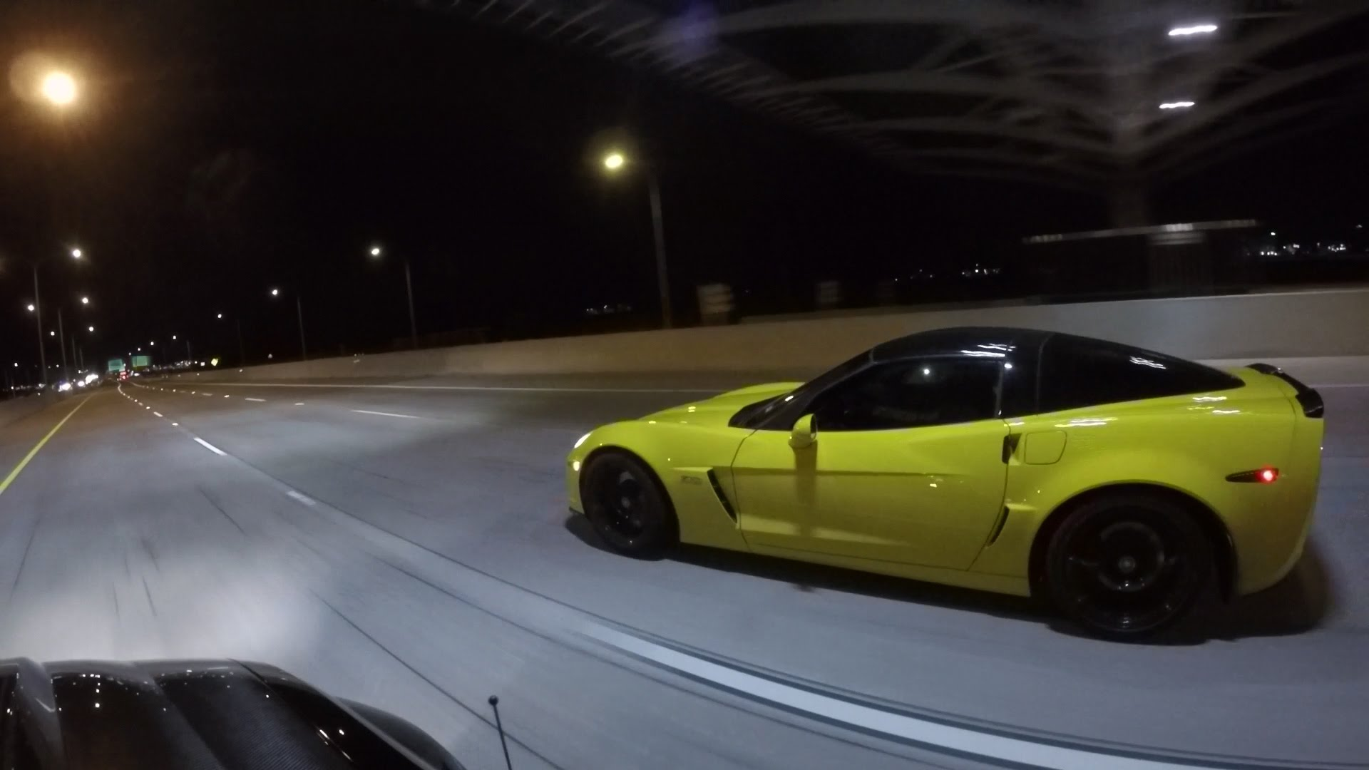 3-Wide Street Racing – GT500 vs Corvette vs Honda ...