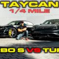 Porsche Taycan Turbo S vs Turbo 1/4 Mile