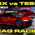NSX vs Tesla Drag Race