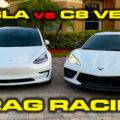 C8 Corvette vs Tesla Model 3 Performance