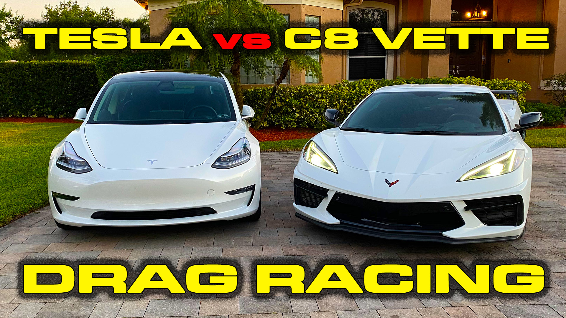 C8 Corvette vs Tesla Model 3 Performance