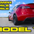Tesla Model Y Performance 1/4 Mile Testing