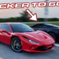 C8 Corvette vs Ferrari F8 Drag Race