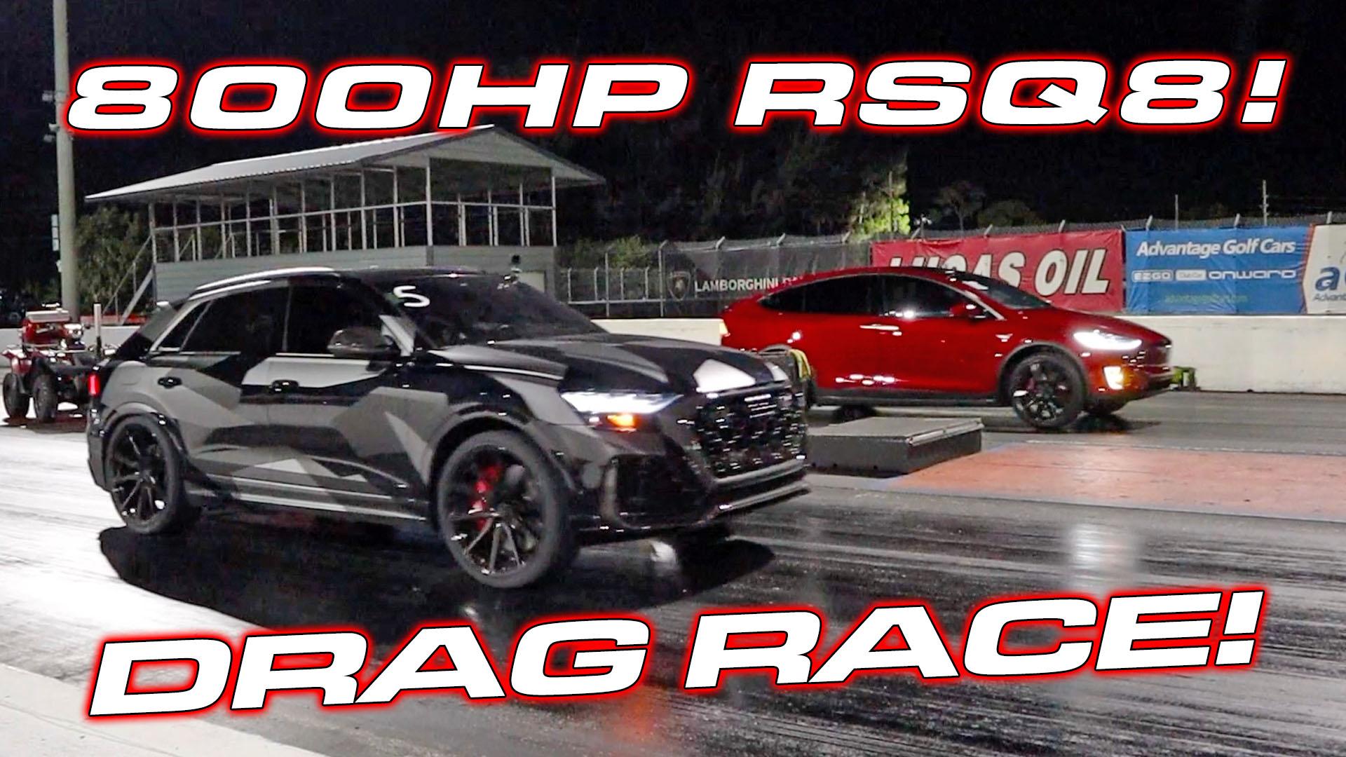 Audi RSQ8 vs Lamborghini Urus and Tesla Model X