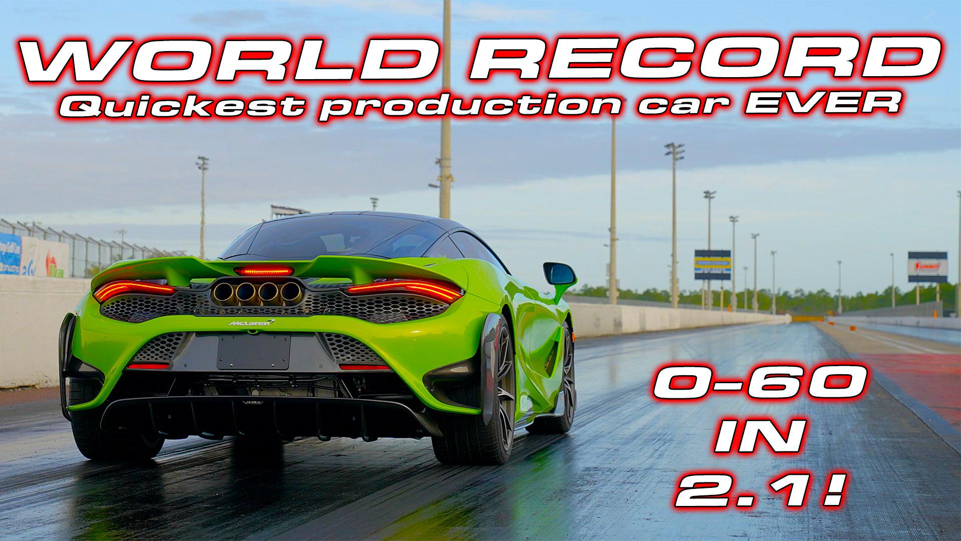 McLaren 765LT World Record 1/4 Mile