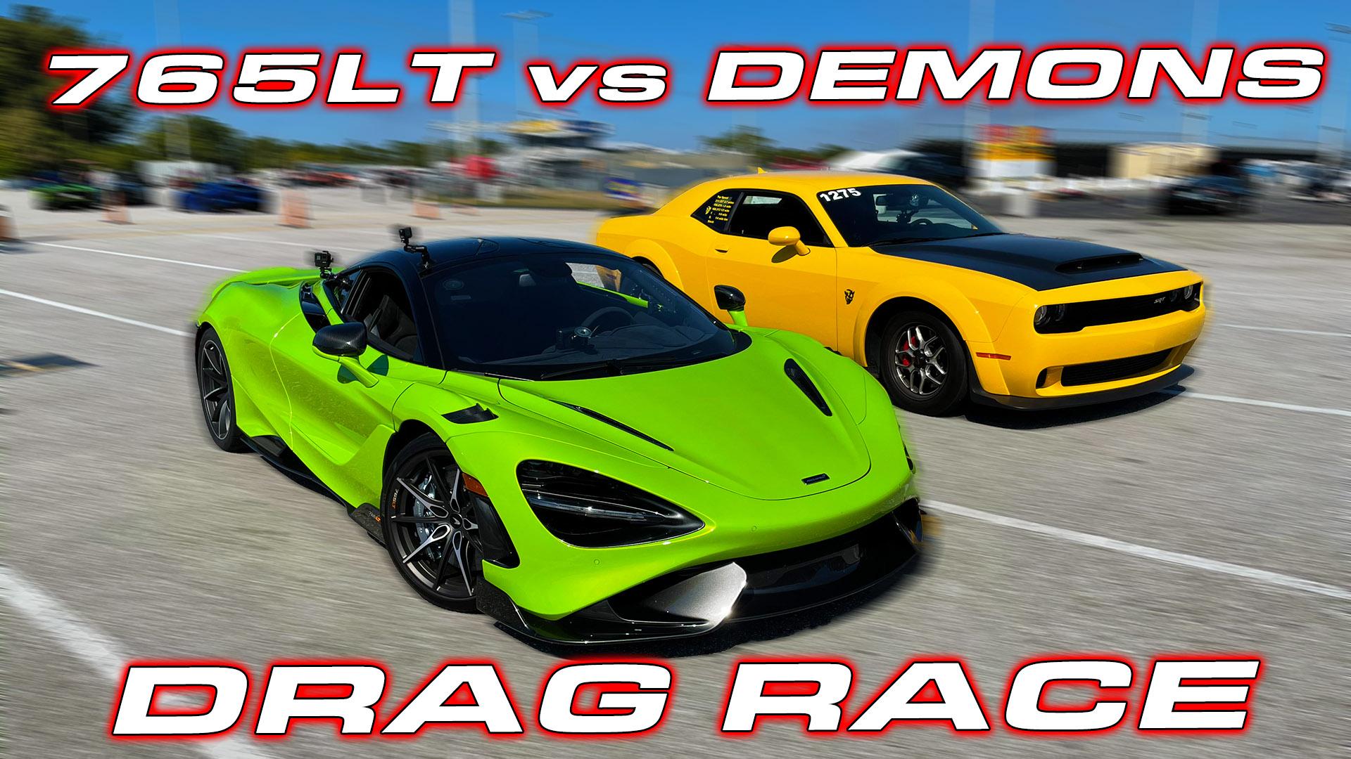 Dodge Demon vs McLaren 765LT