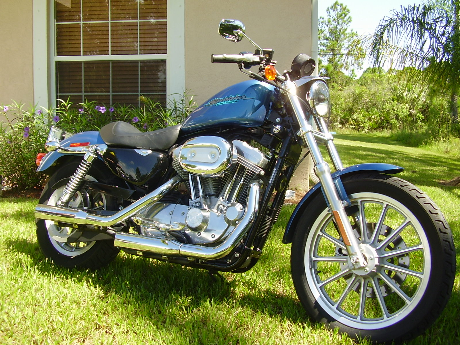 2005 harley-davidson sportster xl exhaust 1/4 mile drag racing