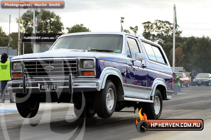 Blue & White 1984 Ford Bronco xlt