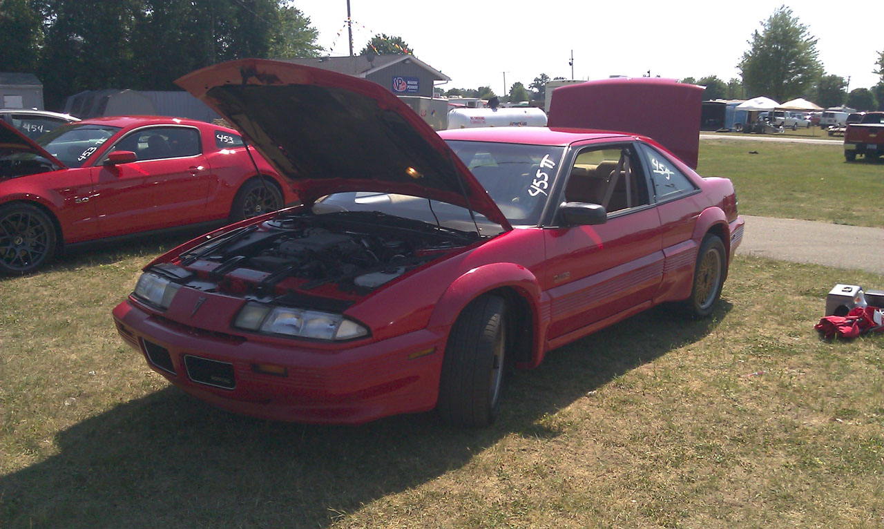 Red 1990 Pontiac Grand Prix Mclaren Turbo