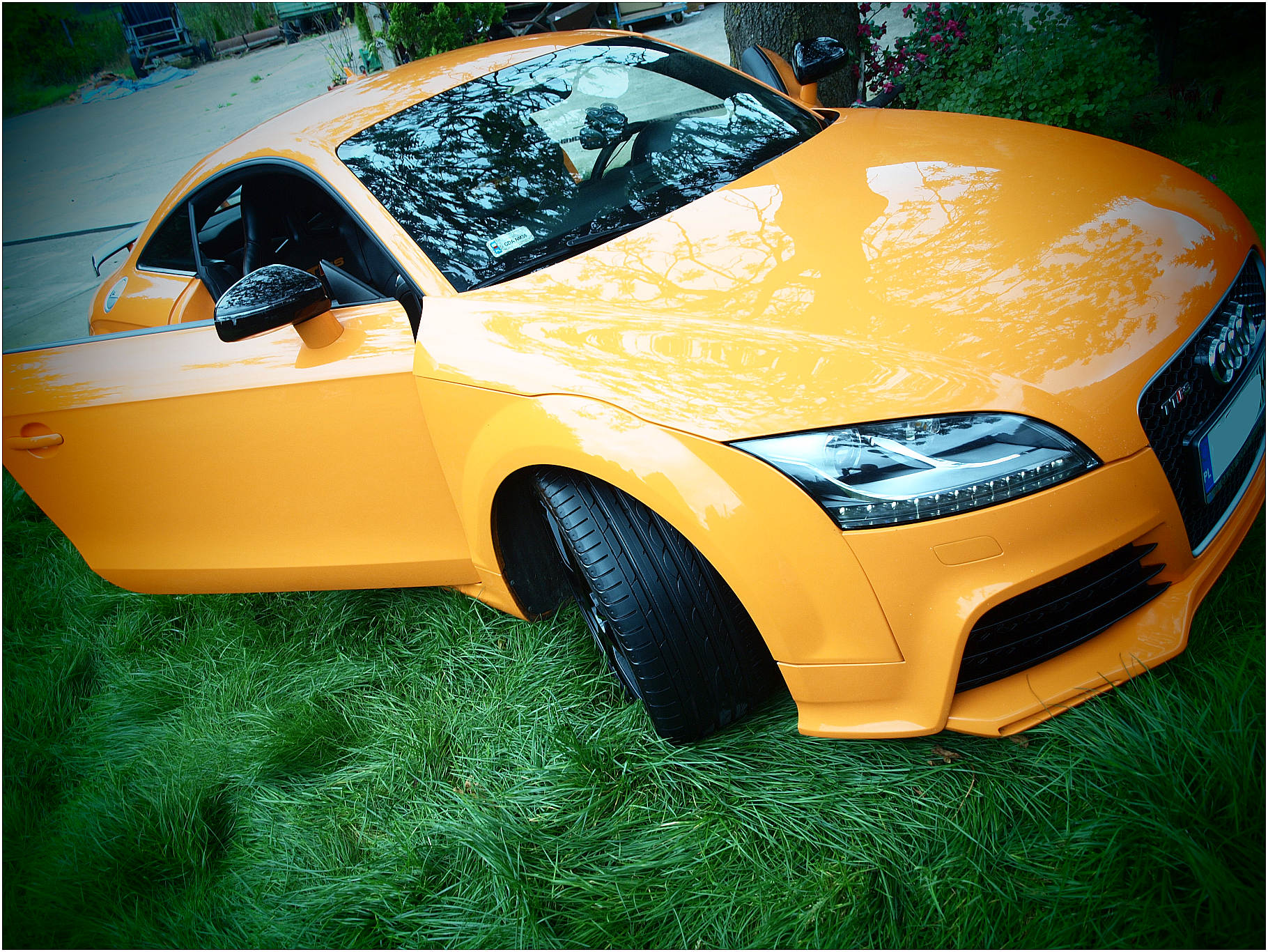 Orange 2011 Audi TT RS VR6 Turbo