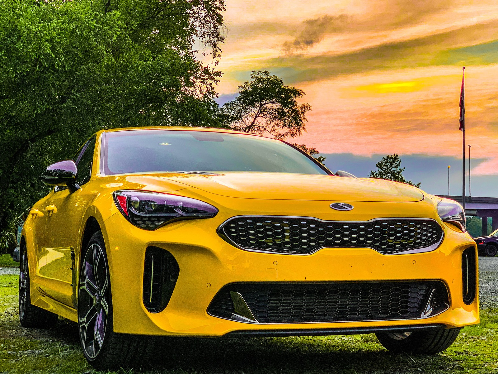 Sunset Yellow 2018 Kia Stinger GT (Limited Edition) AWD