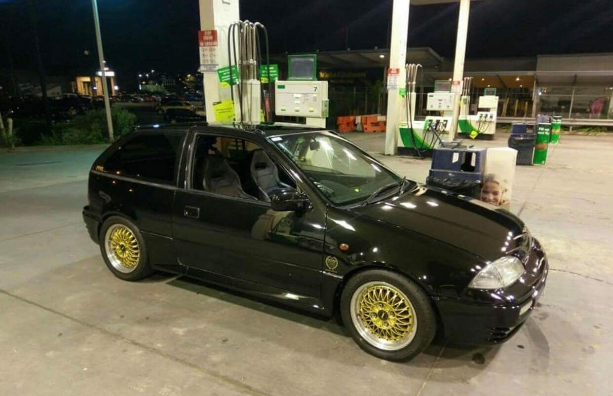 Black 1994 Suzuki Swift GTi Brame #8