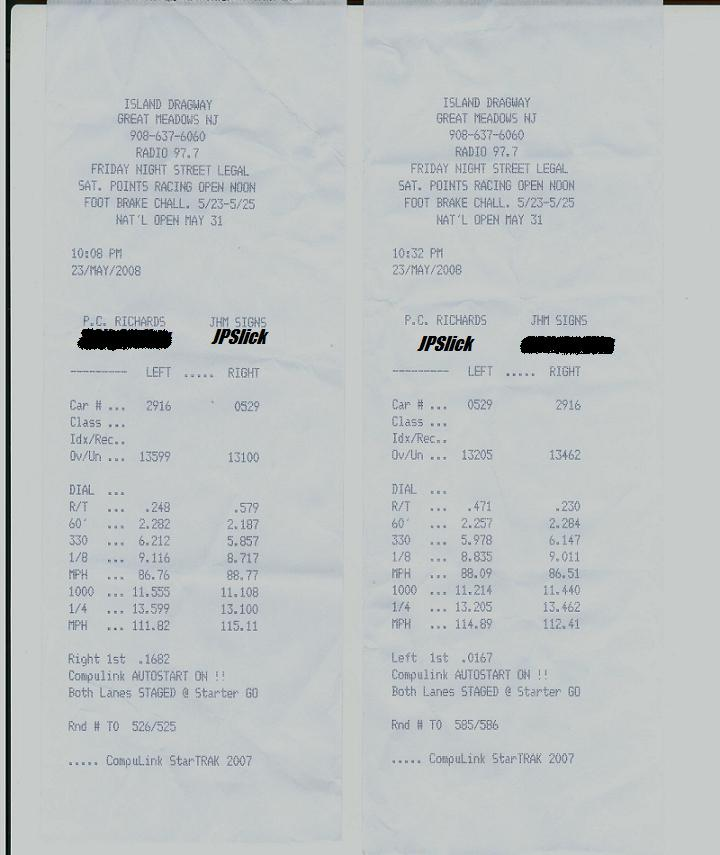 2002 Acura RSX Type S Comptech Supercharger Timeslip Scan